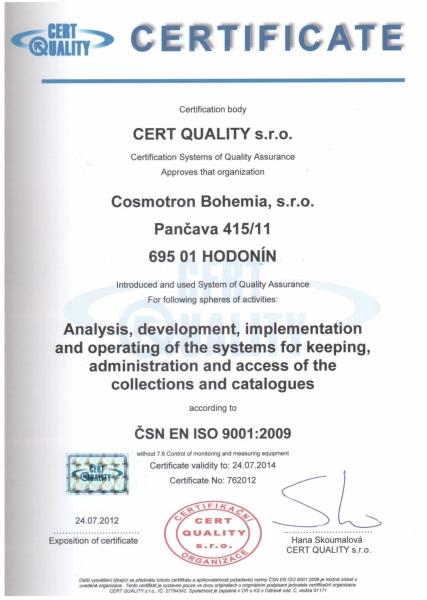 Certifikát kvality opät obhájený
