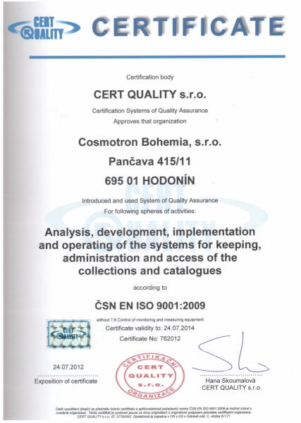 Quality certificate awarded again