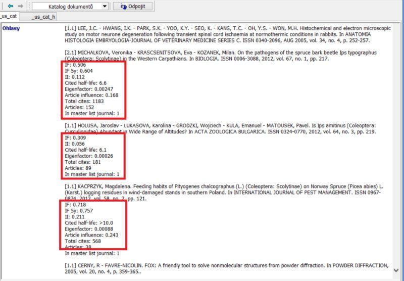 Citations in journals