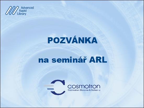 Pozvánka na seminár ARL