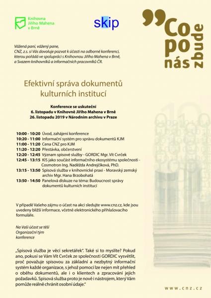 Konference Efektivní správa dokumentů kulturních institucí